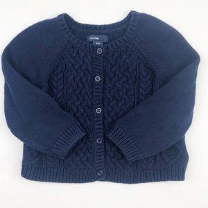 Baby Gap Cotton Knit Cardigan Sweater 12-18 mo